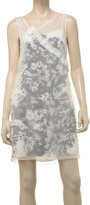 Max Studio Chiffon Rosette Dress