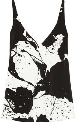 Tibi Refined printed crepe top