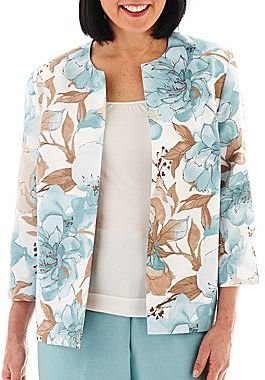 Alfred Dunner When in Rome Floral Print Jacket