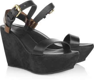 Acne Estelle leather and suede platform sandals