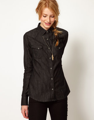 Wrangler Dark Denim Shirt