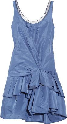 Marc Jacobs Tulle-trimmed silk-radzimir dress