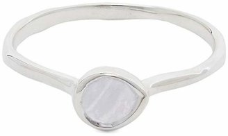 Monica Vinader Silver Siren Small Blue Lace Agate Stacking Ring