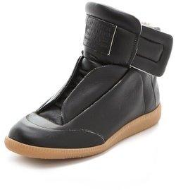 Maison Martin Margiela Leather Flat Sneakers