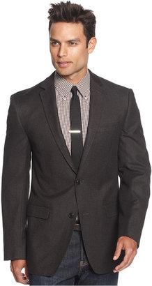 DKNY Jacket, Grey Heather Military Slim Fit Blazer
