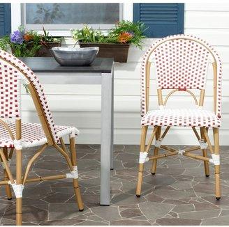 Safavieh Salcha Red Indoor/Outdoor Stackable Dining Chairs