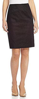 Calvin Klein Straight Denim Skirt