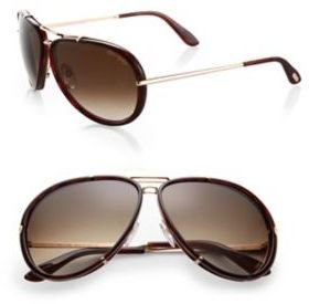 Tom Ford Cyrille 63MM Aviator Sunglasses