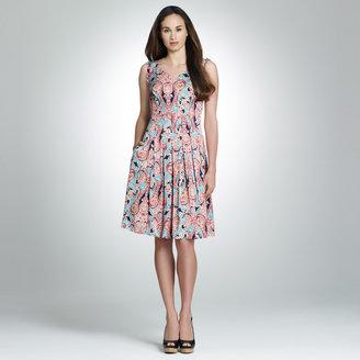Jones New York Floral Pleated Dress