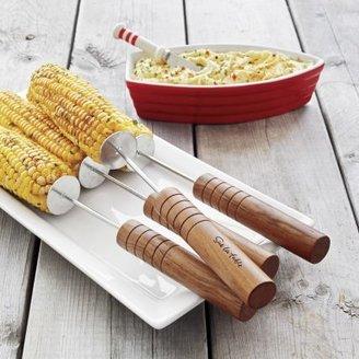 Sur La Table Rosewood Corn Skewers, Set of 4