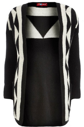 Dorothy Perkins Black Aztec knitted cardigan