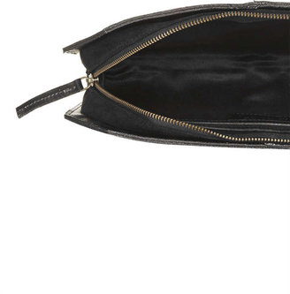 Topshop Pony Drop Zip Clutch
