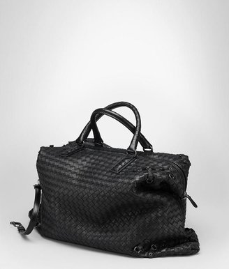 Bottega Veneta Nero intrecciato nappa circle convertible bag