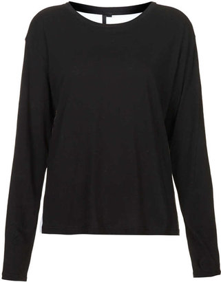 Topshop Contrast Back Longsleeve Tee by Boutique