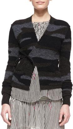 Etoile Isabel Marant Varyia Camo Wrap Sweater
