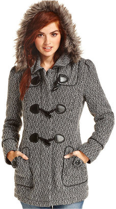 American Rag Coat, Hooded Tweed Toggle