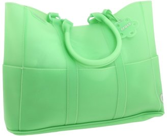 Crocs Translucent Multi Pocket Tote (Green) - Bags and Luggage