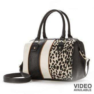 Apt. 9 bali leopard striped convertible barrel satchel
