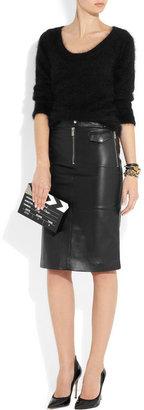 Michael Kors Zipped leather pencil skirt