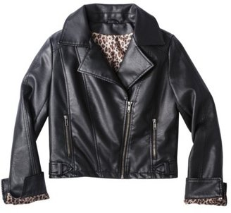 Coffee Shop Junior's Faux Leather Jacket -Black