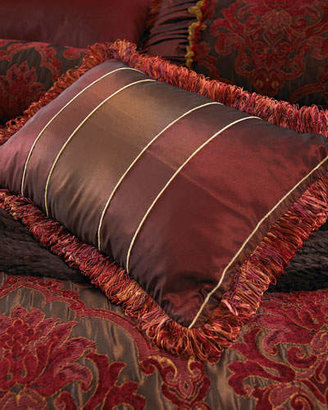 """Isabella Collection by Kathy Fielder Striped Boudoir Pillow, 14"""" x 20"""""""