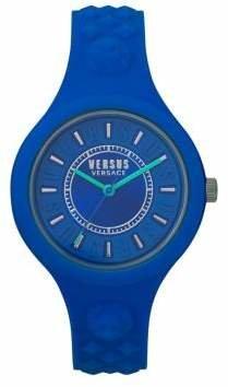 Versace Fire Island Silicone Strap Watch