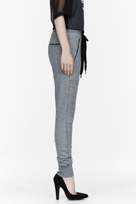 3.1 Phillip Lim Heather grey French Terry trapunto Panel lounge pants