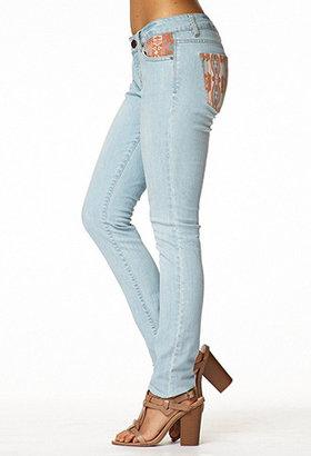 Forever 21 Life In ProgressTM Southwestern-Trimmed Skinny Jeans