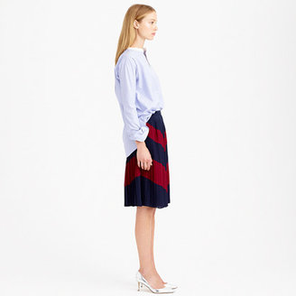 J.Crew Pleated chevron skirt