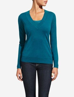 The Limited Merino Blend V-Neck Sweater