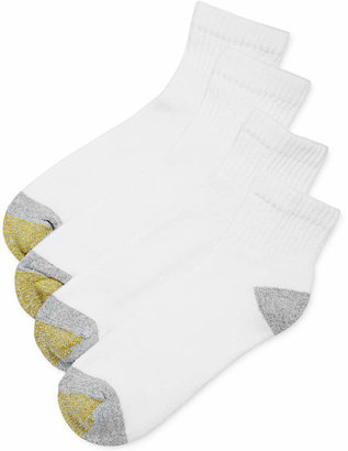 Gold Toe Men's Socks, Athletic Cushioned Quarter 4 Pack, Only at Macy's