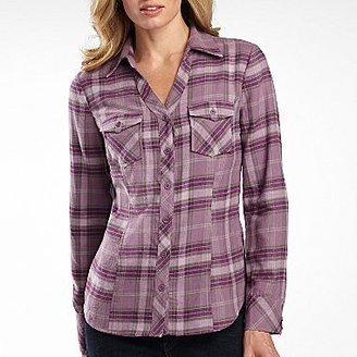 JCPenney a.n.a® Womens Flannel Shirt, Plaid Button Down