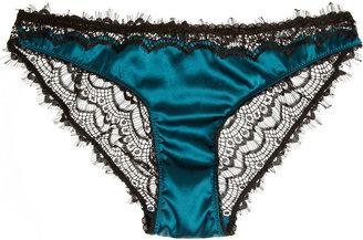 Mimi Holliday Bisou Bisou Azure lace and stretch-silk satin briefs