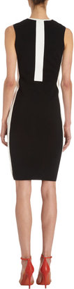 Narciso Rodriguez Contrast Front and Side Panel Sleeveless Dress