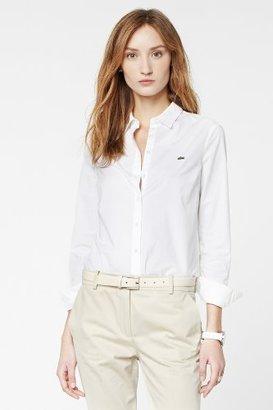 Lacoste Long Sleeve Stretch Poplin Woven Shirt