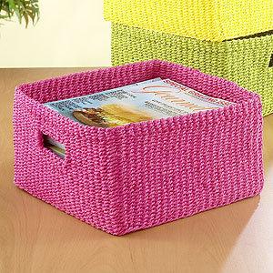 World Market Madison Storage Basket, Beetroot