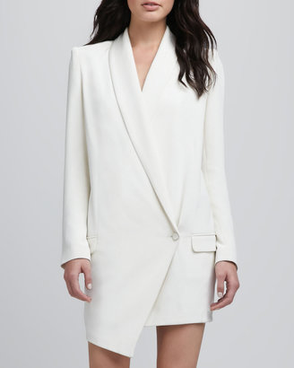 Haute Hippie Oversize One-Button Asymmetric Blazer