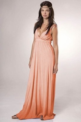 Gypsy 05 Organic Ombre Maxi Dress in Orange