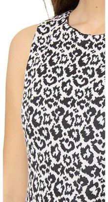 Tibi Sleeveless Leopard Dress