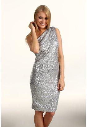 Calvin Klein Sequin One-Shoulder Dress (Silver) - Apparel