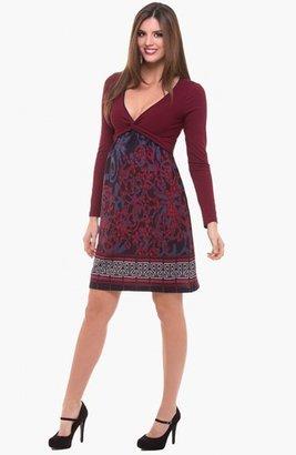 Olian V-Neck Maternity Dress