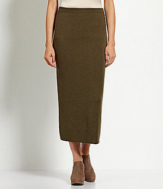 Eileen Fisher Long Wool Crepe Skirt
