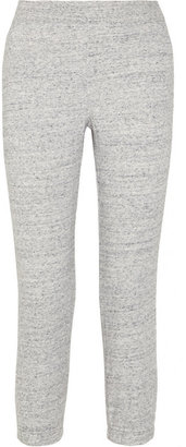 Alexander Wang Cropped cotton-blend French terry track pants