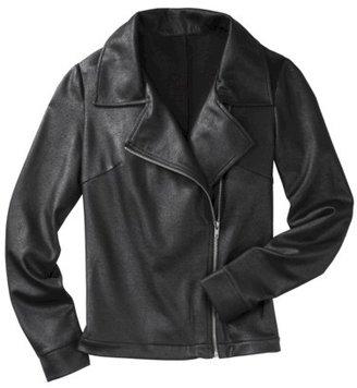 Mossimo Women's Zippered Front Moto Jacket - Black