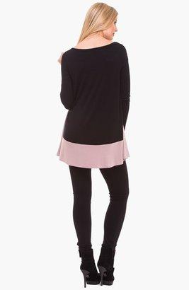 Olian Colorblock Maternity Tunic