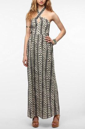 Urban Outfitters Staring At Stars Tie-Neck Geo Maxi Dress