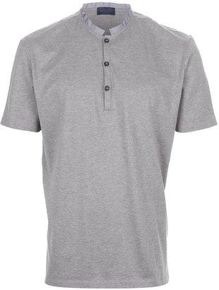 Lanvin band collar polo shirt