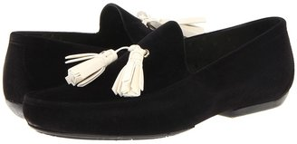 Vivienne Westwood Plastic Flocked Tassel Mocassin (Oyster White/Black) - Footwear