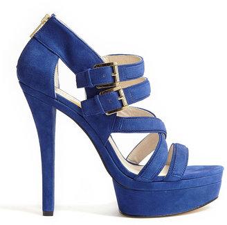 MICHAEL Michael Kors Blue Aria Suede Platform Sandals