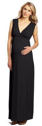 Everly Grey Women's Maternity Maternity Jill Maxi Dress In Solid Knit Jersey